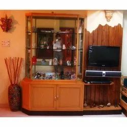 Brown Free Unit Wooden TV Cabinet, For Home