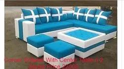 Corner Sofa Set With Center Table And Stool