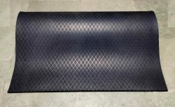 Gym Flooring (Exercise Mat) Heavy Duty 4 Ft X 6 Ft (Easy Fix - No Pasting)