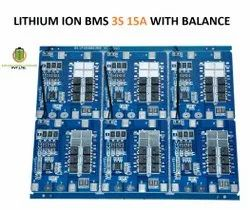 Lithium Ion Bms 3s 15a With Balance