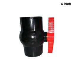 4 Inch  Black And Red Pp Solid Ball Valve