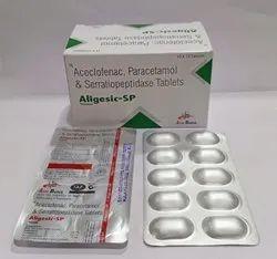 Aceclofenac 100mg, Para325mg, Serratipeptidase15mg Tablet