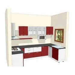 Wooden Modern Modular Kitchen Cabinet Designing Service