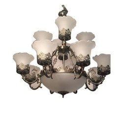 LED Glass Warm White Hanging Chandelier