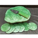 Green Cake Stand & Platter