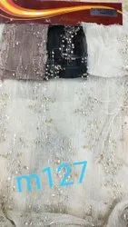 Party Wear Plain Designer Crush sequence Fabric