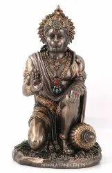 Nirmala Handicrafts Copper Finish Polyresin Sitting Hindu God Hanuman Ji Statue God Idols