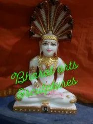 Marble Lord Parshwanath Statue