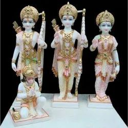 Decorative Marble Ram Darbar Statue