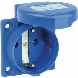 Schuko Socket industrial plug&sockets IP-44