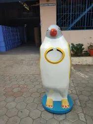 Penguin Waste Bin Fibre Glass