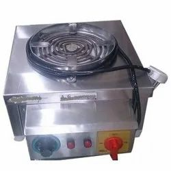 Silver Stainless Steel Commercial Electric Coil Stove, Model Name/Number: Md : 150-k, Size: 14 * 14 * Inch