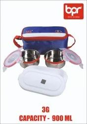 Stainless Steel 4 Colors BPR 3G Lunch Box, For Multipurpose, Capacity: 300ML