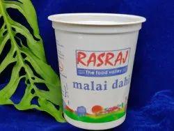 White Printed 400ml Plastic Dahi Cup