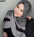 High Quality Bsy Korean Printed Material Scarf Hijab