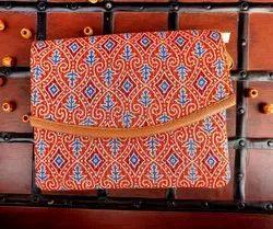 Multicolor Cotton Ajrakh print trendy sling bag, For Casual Wear
