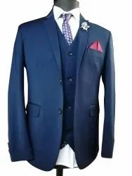 Plain Mens Full Sleeve Formal 3 Piece Suit, Size: 36 To 44