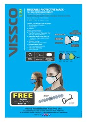 Vissco Reusable Protective Mask (Combo Pack Two Mask), Number of Layers: 5