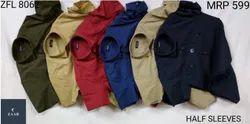 Zaab Regular Fit ZFL 8062 Half Sleeve Men Shirts