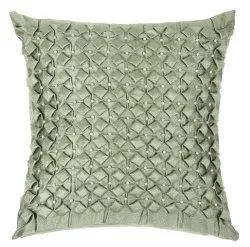 Designer Pista Colored Handmade Satin Cushion Cover