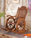 Meditation Wooden Rocking Chair