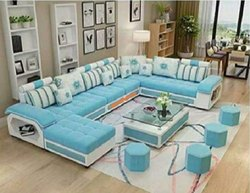 U Shape Designer Sofa Set With 4 Stools