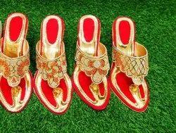 Heels Fancy Ladies Bridal Wear Slippers, Size: 36-41