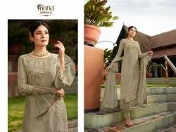 Wedding Wear Multicolor stylish Georgette Heavy Embroidered Salwar Suit, Size: Free Size