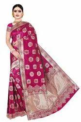 Radiant Designer Banarasi Silk Saree With Zari Work For Women Party Wear Wedding Sarees For Ladies