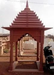 Red Stone Temple Chatri, For Garden,Society