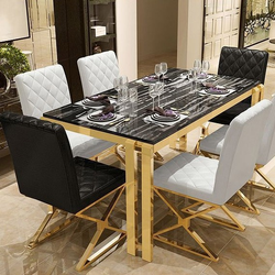 Gaur Steels Stainless Steel SS Dining Table For Home