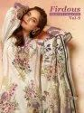 Firdous Exclusives Collection  Vol -9  Pure Jam And Mal Mal Cotton With Patch Work  Ladies Suits