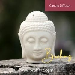 White Ceramic Candle Diffuser By Brahmz