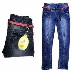 High Rise Button Ladies Denim Jeans, Waist Size: 28-32 Inch