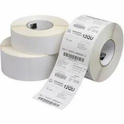 White Chromo 80 GSM Printed Barcode Label