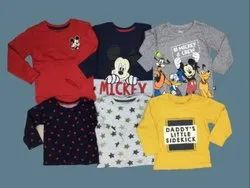 Disney Primark Single Jersey Boys And Girls Full Sleeve T Shirts, Age Group: 3-36 Months