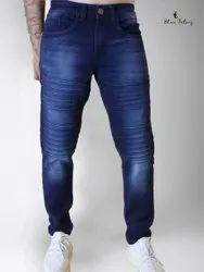 Blue Tatooz Faded Mens Loose Fit Denim Jeans, Waist Size: 28-44