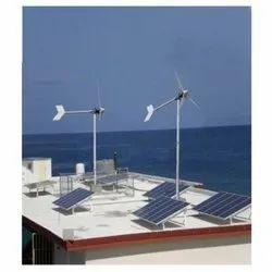 Solar Wind Hybrid Power Plant 1 Kw Cumulative For Solar Technician ITI