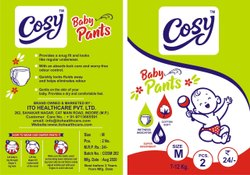Cotton 2 Piece Medium Cosy Baby Diaper Pant