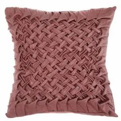 Smoked pink handmade satin cushion cover