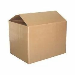Brown Single Wall 3 Ply Laminated Corrugated Kraft Paper Packaging Box, Size(LXWXH)(Inches): 10x10x12 Inch