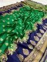 Jacquard saree with Resham zari work