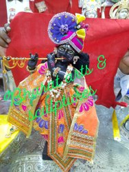 Black Marble Krishna Statue