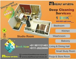 1 BHK Room Cleaning Services