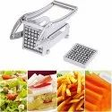 Stainless Steel Home French Fries Potato Chips Strip Cutting Cutter Machine Maker Slicer Chopper