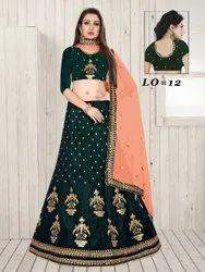Green Ethnic Bridal Lehenga Choli