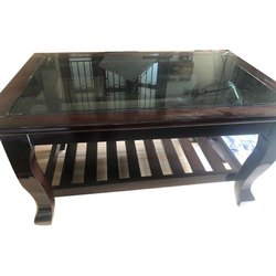 Wooden And Glass Designer Center Table