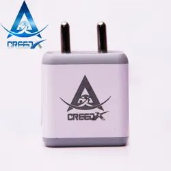 White Electric Creedx X2 Dual Port 3.4A Quick Charging Adapter