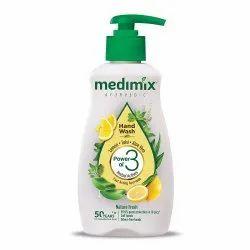 Liquid Medimix Ayur Hand Wash with Lemon Tulsi Aloe Vera 190 Ml, Packaging Type: Bottle