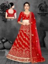 Red Ethnic Bridal Lahenga Choli